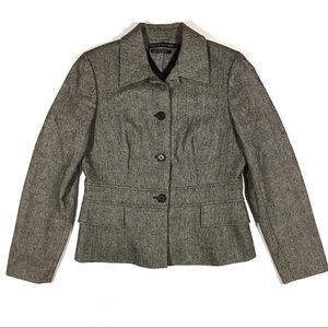 Tommy Hilfiger Tweed Blazer Jacket 8 Button Front